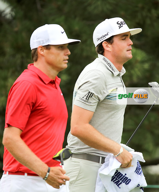 27 JUN 15  Nick Watney and Keegan Bradley enjoyng Saturday's Third Round at The Travelers Championship at TPC River Highlands in Cromwell,Conn. (photo credit : kenneth e. dennis/kendennisphoto.com)