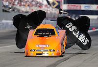 Nov 14, 2010; Pomona, CA, USA; NHRA top alcohol funny car driver Tony Bartone during the Auto Club Finals at Auto Club Raceway at Pomona. Mandatory Credit: Mark J. Rebilas-