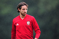 Joe Allen Of Wales during the Wales Training Session and Press Conference at The Vale Resort in Cardiff, Wales. September 3, 2018
