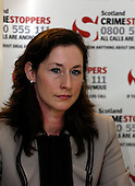 Kate Johnston (National Manager for Crimestoppers Scotland) speaking about Operation Captura - the multi-agency campaign which looks to arrest criminals in Spain who are wanted in the UK - Picture by Donald MacLeod - 21.2.11 - 07702 319 738 - www.donald-macleod.com