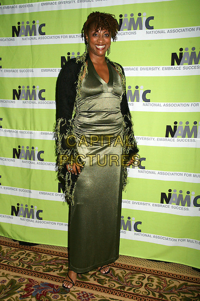 PHILLIS BOWIE.12th Annual NAMIC Vision Awards, Beverly Hills, California, USA..April 18th, 2006.Photo: Byron Purvis/AdMedia/Capital Pictures.Ref: BP/ADM.full length green satin dress scarf wrap.www.capitalpictures.com.sales@capitalpictures.com.© Capital Pictures.