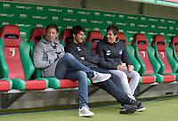 03.03.2018,  Football 1.Liga 2017/2018, 25. match day,  FC Augsburg - TSG Hoffenheim, in WWK-Arena Augsburg. Trainer Julian Nagelsmann (li, Hoffenheim)  *** Local Caption *** © pixathlon<br /> <br /> Contact: +49-40-22 63 02 60 , info@pixathlon.de