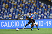 13th June 2020; Stadio San Paolo, Naples, Campania, Italy; Coppa Italia Football, Napoli versus Inter Milan; Diego Demme of Napoli challenges but fouls Ashley Young of Inter