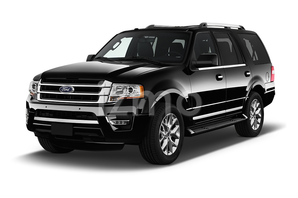 2017 Ford Expedition Limited 5 Door SUV Angular Front stock photos of front three quarter view