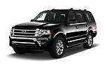 2016 Ford Expedition Limited 5 Door SUV Angular Front stock photos of front three quarter view