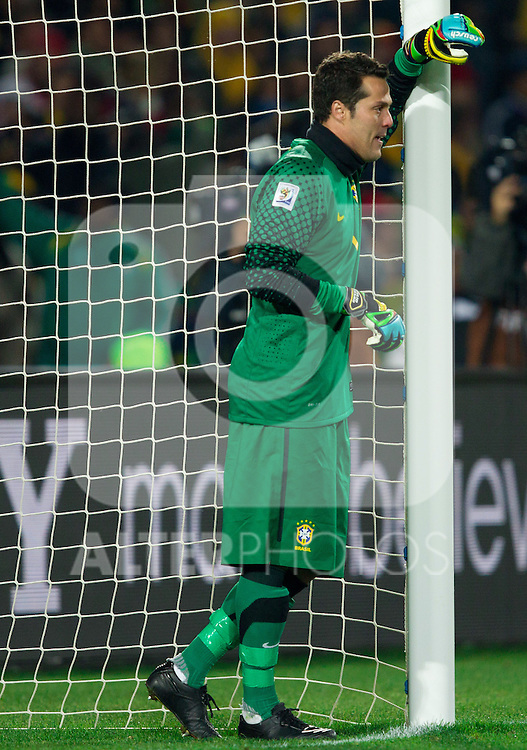 Julio Cesar of Brazil during the 2010 FIFA World Cup South Africa. EXPA Pictures © 2010, PhotoCredit: EXPA/ Sportida/ Vid Ponikvar +++ Slovenia OUT +++