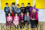 Pupils from Two Mile school enjoying their Halloween welcoming party on Friday front row l-r: Rebecca Riordan, Aoife Casey, Erica McCarthy, Holly and Catherine Barry Principal. Back row: Andrew Riordan, Cailean Laing, Setanta Cronin, Alex Riordan, Mathew Noonan Daly and Robert Harris Ryan