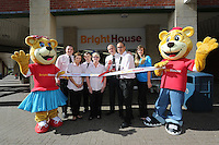L-R ribboncutting staff members Rhys Jenkins, sarah Greenland, Marc Whittle, Jane Gardiner, area manager Richard Hunt, store manager Adam Saunders and Amy Stone.