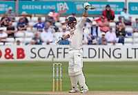 Daniel Lawrence of Essex plays an unorthodox batting shot during Essex CCC vs Warwickshire CCC, Specsavers County Championship Division 1 Cricket at The Cloudfm County Ground on 15th July 2019