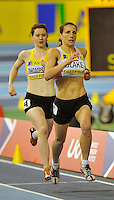 Photo: Paul Greenwood/Richard Lane Photography. Aviva World Trials & UK Championships. 14/02/2010. .Karrie Blake and Rachael Thompson in the Womens 800m.