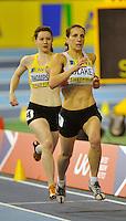 Photo: Paul Greenwood/Richard Lane Photography. Aviva World Trials & UK Championships. 14/02/2010. .Karrie Blake and Rachael Thompson in the Womens 800m.