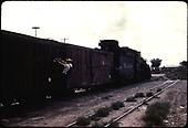 #490 K-37 Farmington workman on box car.<br /> D&amp;RGW  Farmington, NM