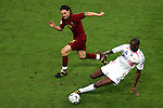 05 July 2006: Patrick Vieira (FRA) (4) tackles the ball away from the run of Maniche (POR) (18). France defeated Portugal 1-0 at the Allianz Arena in Munich, Germany in match 62, the second semifinal game, in the 2006 FIFA World Cup.