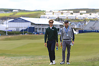 Thomas Detry (BEL) and his caddy walking the course during the Pro-Am of the Irish Open at LaHinch Golf Club, LaHinch, Co. Clare on Wednesday 3rd July 2019.<br /> Picture:  Thos Caffrey / Golffile<br /> <br /> All photos usage must carry mandatory copyright credit (© Golffile | Thos Caffrey)