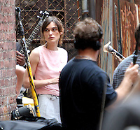 July 23, 2012 Keira Knightley shooting on location for new VH-1 movie Can a Song Save Your Life? in New York City.Credit:&copy; RW/MediaPunch Inc. /NortePhoto.com<br />
