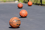 SOUTHBURY, CT. 13 July 2019-071319 - Basketball sit on the court at Community House Park in Southbury on Saturday. Bill Shettle Republican-American