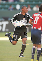 CARSON, CA – SEPTEMBER 19: Chivas USA goalie Zach Thornton (22) during a soccer match at Home Depot Center, September 19, 2010 in Carson California. Final score Chivas USA 0, Kansas City Wizards 2.
