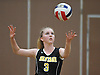 Abigail Cullen #3 of Wantagh serves a ball into play during a Nassau County Conference A1 varsity girls volleyball match against host Lynbrook High School on Thursday, Sept. 8, 2016. Wantagh won the match 3-1.