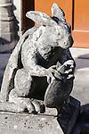 A statue of a rabbit on the roof of the estate Quinta da Regaleria in Sintra, Portugal.