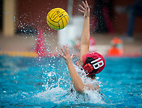 Stanford, CA - March 8, 2020: Thea Walsh at Avery Aquatic Center. The No. 2 Stanford Women's Water Polo team beat the No. 6 Arizona State Sun Devils 9-8.