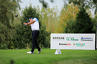 Jos&eacute;-Filipe Lima (POR) during the third round of the Kazakhstan Open presented by ERG played at Zhailjau Golf Resort, Almaty, Kazakhstan. 15/09/2018<br /> Picture: Golffile | Phil Inglis<br /> <br /> All photo usage must carry mandatory copyright credit (&copy; Golffile | Phil Inglis)