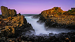 Twilight at Bombo Quarry in Kiama Downs on the south coast of NSW in Australia