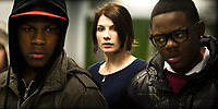 Attack the Block (2011) <br /> John Boyega, Jodie Whittaker &amp; Leeon Jones<br /> *Filmstill - Editorial Use Only*<br /> CAP/KFS<br /> Image supplied by Capital Pictures