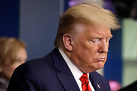 United States President Donald J. Trump holds a press briefing on the Coronavirus COVID-19 pandemic with members of the Coronavirus Task Force at the White House in Washington on March 19, 2020. <br /> Credit: Yuri Gripas / Pool via CNP/AdMedia