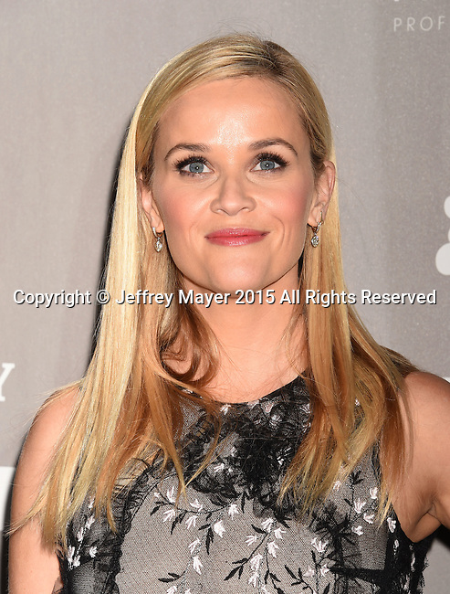 CULVER CITY, CA - NOVEMBER 14: Actress Reese Witherspoon attends the 2015 Baby2Baby Gala presented by MarulaOil & Kayne Capital Advisors Foundation honoring Kerry Washington at 3LABS on November 14, 2015 in Culver City, California.