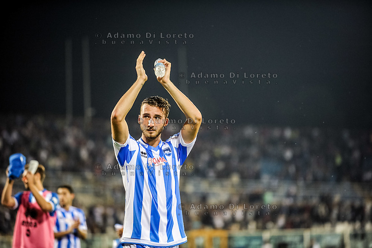 Cristante Bryan (Pescara) The Pescara Team at the end of the match during the Italian Serie A football match Pescara vs SSC Inter on September 11, 2016, in Pescara, Italy. Photo by Adamo DI LORETO
