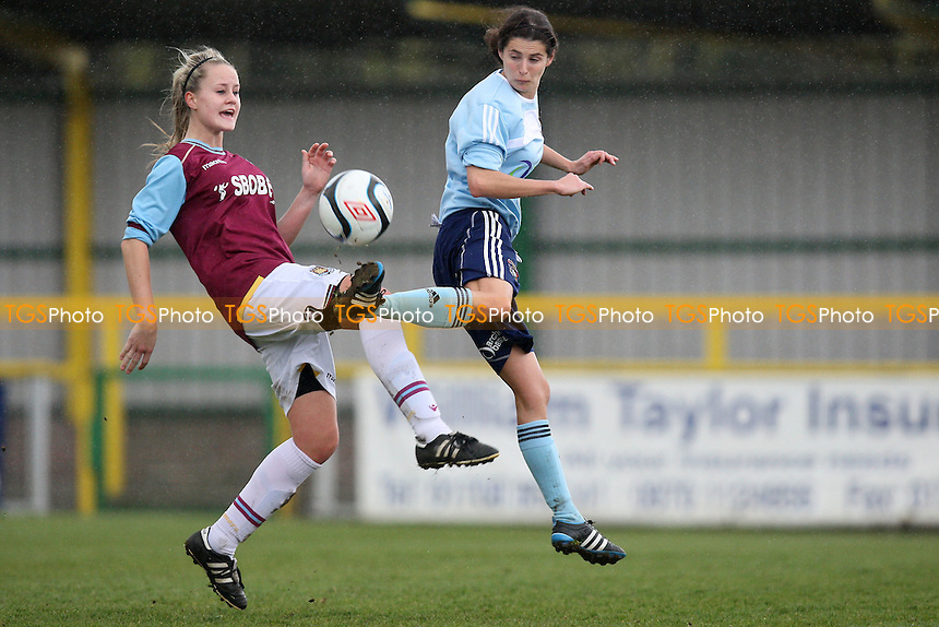 Rosie Sullivan in action for West Ham - West Ham United Ladies vs Coventry City Ladies - FA Womens Premier League Cup Quarter-Final at Ship Lane, Thurrock FC - 08/04/12 - MANDATORY CREDIT: Gavin Ellis/TGSPHOTO - Self billing applies where appropriate - 0845 094 6026 - contact@tgsphoto.co.uk - NO UNPAID USE.