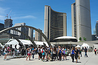 Toronto,  CANADA - File Photo - Downtown Toronto - Nathan Square in front of City Hall.<br /> <br /> Photo :  Agence Quebec Presse - Pierre Roussel