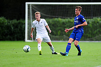 Marc Walsh of Swansea City vies for possession with James Clark of Chelsea FC during the Premier League u18 match between Swansea City AFC and Chelsea FC at Landore Training Ground, Wales, UK. Tuesday 11th September 2018