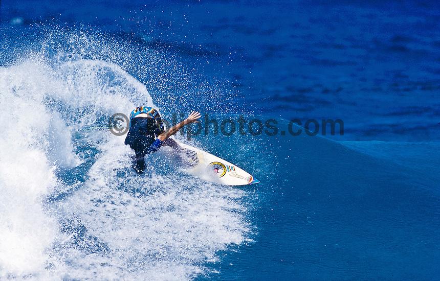 Andrew Kidman (AUS), surfing Rocky Point, Hawaii. circa 1989.photo:  joliphotos.com