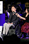 Creative director Yoshiaki Sawabe speaks during the 1000 Days to Go! cultural event in front of Tokyo Station on November 26, 2017, Tokyo, Japan. Japanese celebrities attended the event marking the 1000-day countdown to the 2020 Tokyo Olympics. (Photo by Rodrigo Reyes Marin/AFLO)
