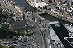 Aerial view of Drogheda showing St. Mary's Street, looking North West, with Scotch Hall, Marys Bridge and North Quay in view. 02/09/05...Photo NEWSFILE/Fran Caffrey.(Photo credit should read Fran Caffrey/NEWSFILE)....This Picture has been sent you under the condtions enclosed by:.Newsfile Ltd..The Studio,.Millmount Abbey,.Drogheda,.Co Meath..Ireland..Tel: +353(0)41-9871240.Fax: +353(0)41-9871260.GSM: +353(0)86-2500958.email: pictures@newsfile.ie.www.newsfile.ie.FTP: 193.120.102.198...This picture is from Fran Caffrey@newsfile.ie