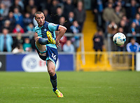 Michael Harriman of Wycombe Wanderers during the Sky Bet League 2 match between Wycombe Wanderers and Mansfield Town at Adams Park, High Wycombe, England on the 14th April 2017. Photo by Liam McAvoy.