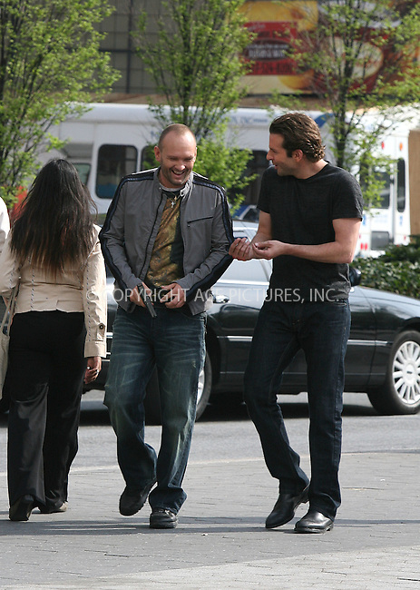 WWW.ACEPIXS.COM ************....April 6 2010, New York City....Actors Andrew Howard and Bradley Cooper on the Union Square set of the new movie 'The Dark Fields' on April 6 2010 in New York City......Please byline: PHILIP VAUGHAN - ACEPIXS.COM.. *** ***  ..Ace Pictures, Inc:  ..tel: (646) 769 0430..e-mail: info@acepixs.com..web: http://www.acepixs.com