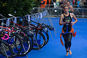 June 11th 2017, Leeds, Yorkshire, England; ITU World Triathlon Leeds 2017; Jessica Learmonth runs into the change area