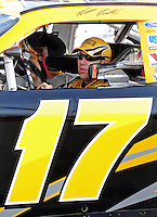May 1, 2009; Richmond, VA, USA; NASCAR Sprint Cup Series driver Matt Kenseth during qualifying for the Russ Friedman 400 at the Richmond International Raceway. Mandatory Credit: Mark J. Rebilas-