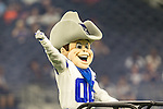 Dallas Cowboys mascot. Rowdy, in action during the pre-season game between the Minnesota Vikings and the Dallas Cowboys at the AT & T stadium in Arlington, Texas. Minnesota defeats the Cowboys 28 to 14.