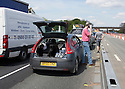 05/05/16 <br /> <br /> Drivers had to endure two hour delays in searing heat after an accident closed the M6 near Knutsford this afternoon<br /> <br /> All Rights Reserved: F Stop Press Ltd. +44(0)1335 418365   +44 (0)7765 242650 www.fstoppress.com