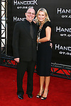 "Producer Akiva Goldsman and wife Rebecca Goldsman arrive to The World Premiere of Columbia Pictures' ""Hancock"" at the Grauman's Chinese Theatre on June 30, 2008 in Hollywood, California."