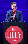 Hannah Gadsby on stage during the 9th Annual LILLY Awards at the Minetta Lane Theatre on May 21,2018 in New York City.