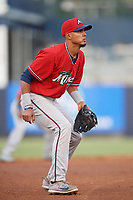 Fort Myers Miracle third baseman Nelson Molina (19) during a game against the Tampa Tarpons on May 2, 2018 at George M. Steinbrenner Field in Tampa, Florida.  Fort Myers defeated Tampa 5-0.  (Mike Janes/Four Seam Images)