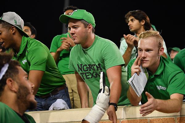 DENTON TEXAS: University of North Texas Mean Green Football v Lamar University on September 2, 2017 at Apogee Stadium in Denton TX. (Photo Rick Yeatts/Manny Flores)