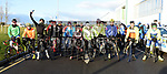 Cyclists line up for the start of the 100K Duleek Parish School cycle. Photo:Colin Bell/pressphotos.ie