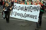 May Day march and rally at Trafalgar Square, May 1st, 2010 Save Shaker Aamer last Londoner in Guantanamo protestors