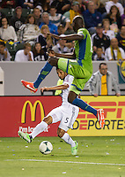 CARSON, CA - May 26, 2012: LA Galaxy vs Seattle Sounders match at the Home Depot Center in Carson, California. Final score, LA Galaxy 4, Seattle Sounders 0.