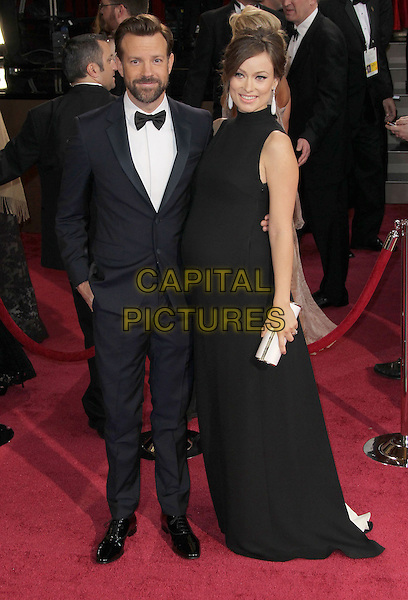 02 March 2014 - Hollywood, California - Jason Sudeikis, Olivia Wilde. 86th Annual Academy Awards held at the Dolby Theatre at Hollywood &amp; Highland Center. <br /> <br /> CAP/ADM/RE<br /> &copy;Russ Elliot/AdMedia/Capital Pictures